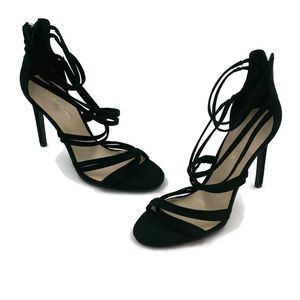 Marc Fisher Womens Suede Black Strap Heels